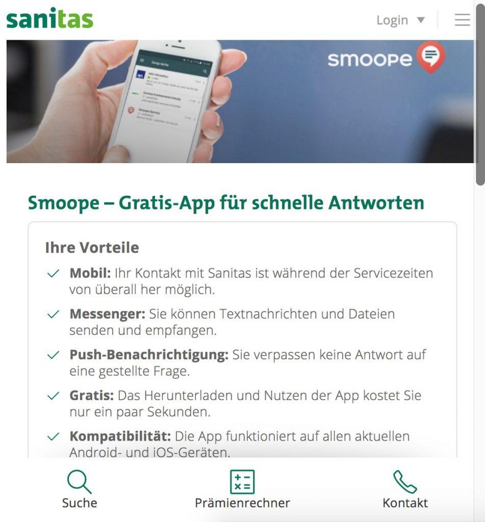 smoope Instant Messaging im Einsatz bei sanitas