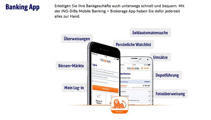 Kundenservice Banking App Ing DiBA