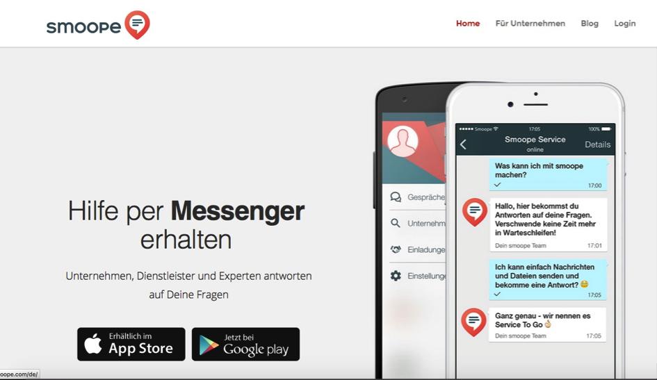 smoope Instant Messaging im Kundenservice