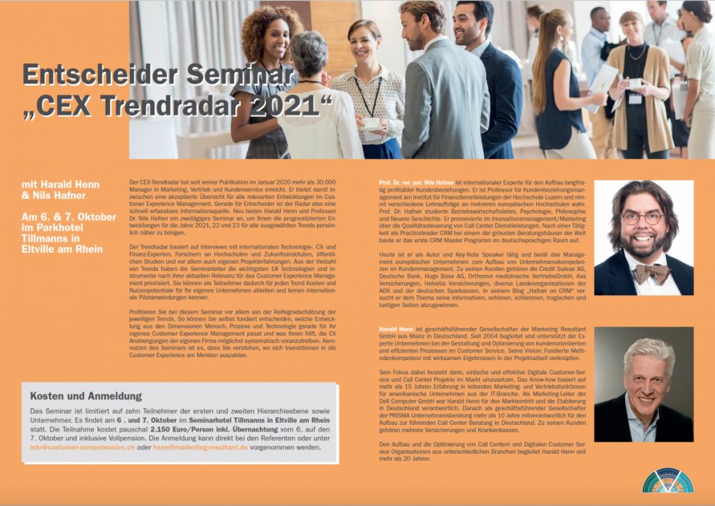 CEX Trendradar Seminar