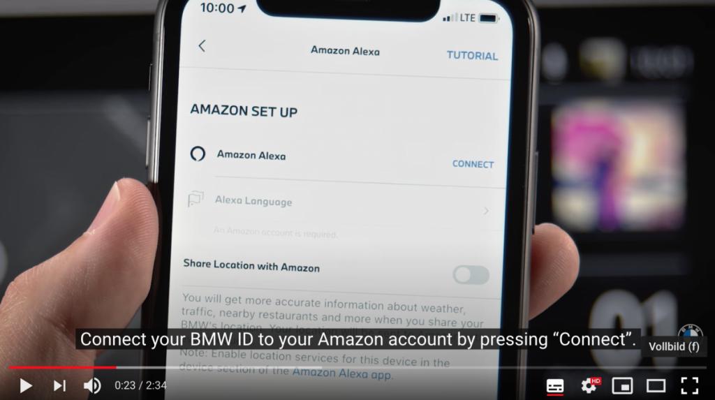 Amazon Alexa vernetzt mit dem BMW System