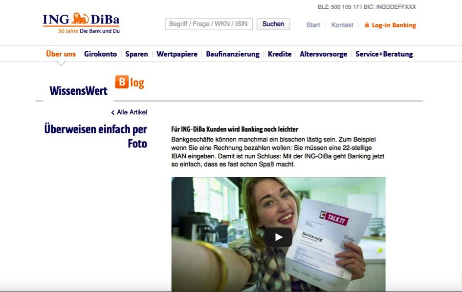 Ing Diba Fotouberweisung Marketing Resultant