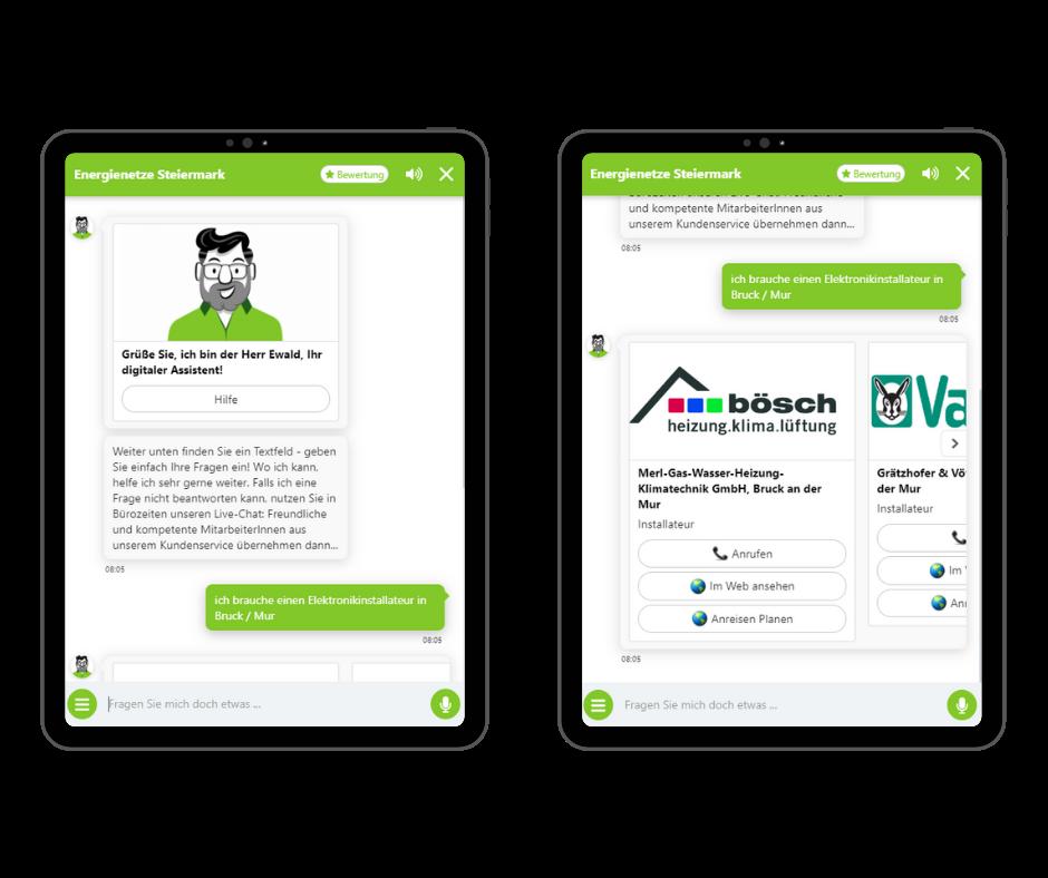 Onlim Chatbot für die Energienetze Steiermark