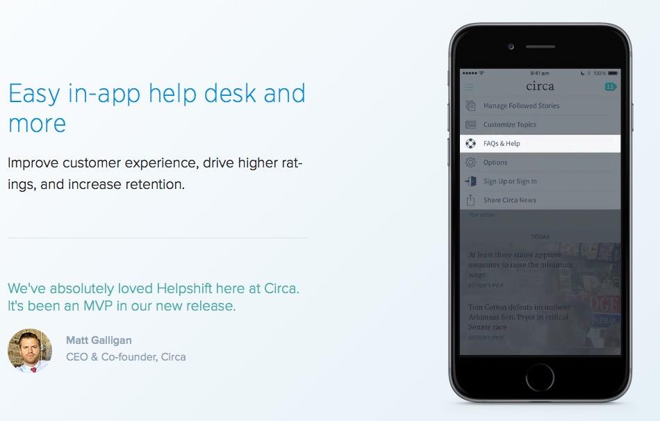 helpshift In-App solution