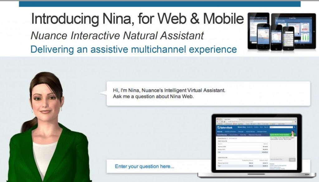 Customer Service 2020 : Nina: Chatbot von Nuance