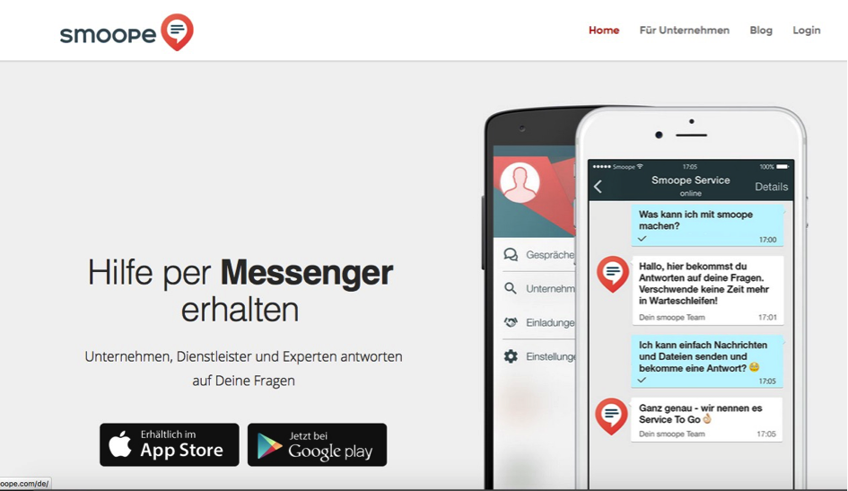 smoope Instant Messaging im Kundenservice